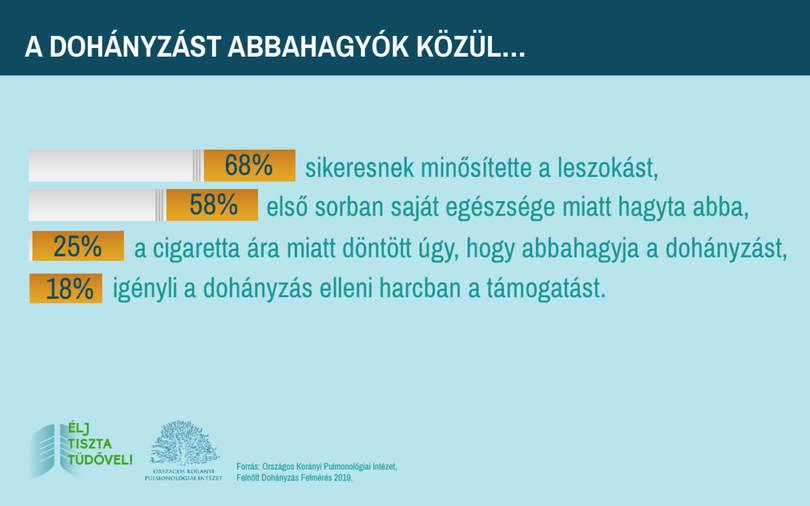 az emberek hány százaléka hagyta abba a dohányzást