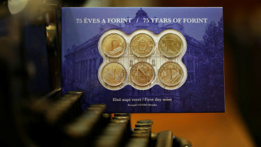 75 éves a forint 5 forintos érme mnb