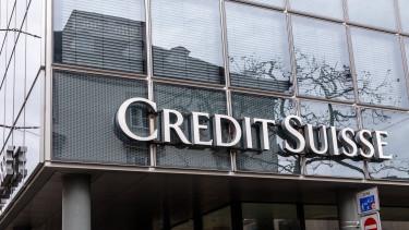 A Credit Suisse svájci bankóriás homlokzata. Fotó: Shutterstock