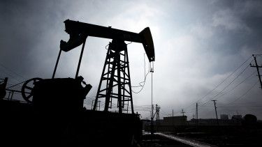 A pumpjack is silhouetted as it operates in Baku, Azerbaijan, Photograph: Taylor Weidman/Bloomberg via Getty Images