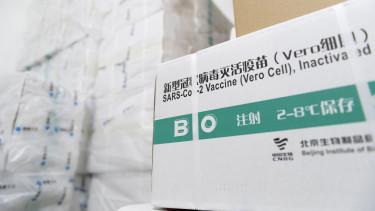 A Sinopharm kínai gyógyszergyártó cég koronavírus elleni vakcinái a hûtõkamrában