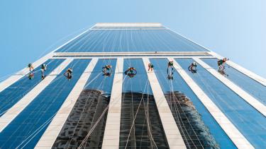 ablaktisztító, iroda, felhőkarcoló