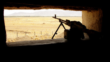 afganisztán terrorizmus tálibok géppuska pkm bunker