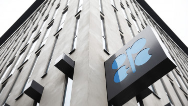 An OPEC sign hangs outside the OPEC Secretariat  Photographer: Akos Stiller/Bloomberg via Getty Images
