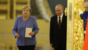 Angela Merkel Vlagyimir Putyin 210820