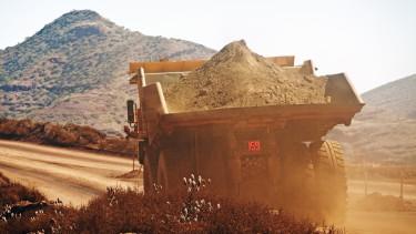 bánya, építkezés, teherautó, homok, getty