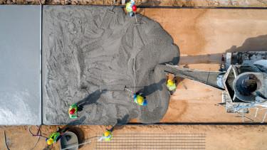 beton építőipari munkások