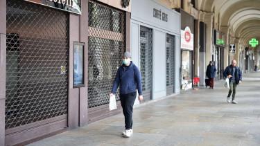 bezárt bolt, üzlet, sétálóutca, járvány,