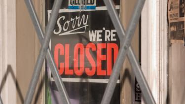 bezárt üzlet - koronavírus