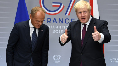 Brexit Boris Johnson ketto level Donald Tusk
