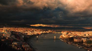budapest, vihar, panoráma