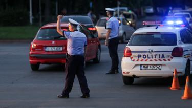 Bukarest rendőr autó