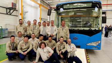 BYD rolls out first electric buses from Hungarian plant