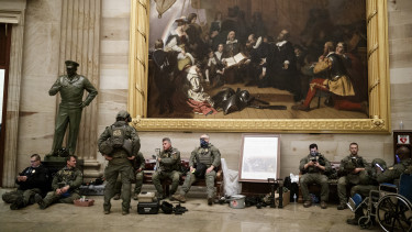 capitolium rendőrség tüntetés donald trump amerikai elnökválasztás 2020