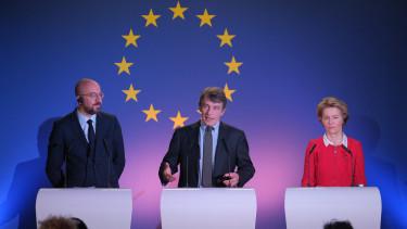 Charles Michel David Sassoli Ursula von der Leyen Brexit Europai Unio