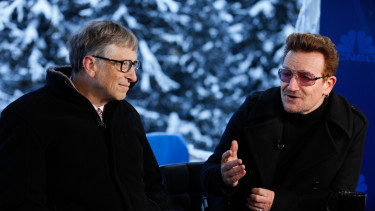 davos wef gates bono cnbc getty editorial