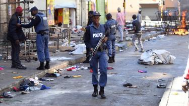 dél afrika rendőrség