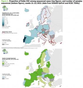 delta varians europaban