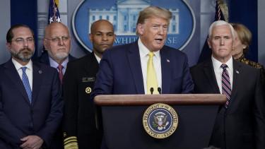 Donald Trump Mike Pence koronavirus bejelentes koltsegvetes