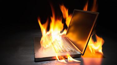 égő laptop