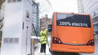 elektromos busz töltés