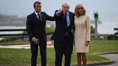 Emmanuel Macron Boris Johnson Brexit halasztas