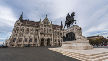 Entrance of the Hungarian Parliament building in Budapest, Hungary. (Photo by: Education Images/Universal Images Group via Getty Images)