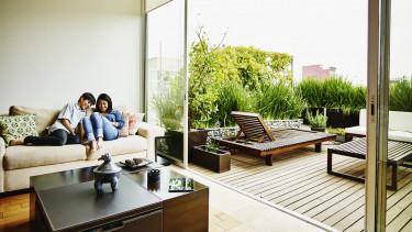 erkély új lakás zöld