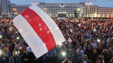 fehérorosz tüntetők