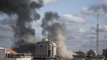 gáza bombázás