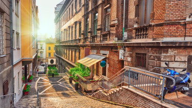 getty, budapest, tégla, utca, lakás, óváros