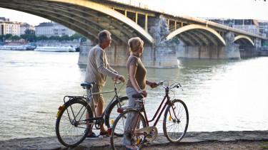 getty, kerékpár, bicikli, budapest, rakpart, margithíd