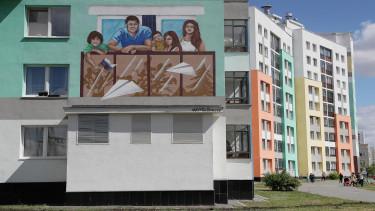 getty, panel, festés, lakótelep, lakás