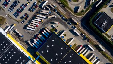 getty, raktár, logisztikai központ, kamion, csarnok
