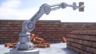 getty, robot, falazórobot, építőipar, építkezés, tégla