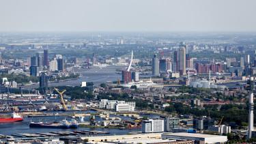 getty, rotterdam, kikötő, logisztika, raktár, város, hollandia, kereskedelem