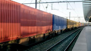 getty, vonat, vasút, tehervonat, állomás, peron