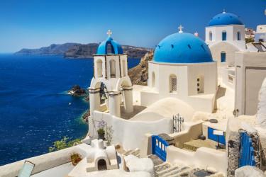 görög santorini getty stock