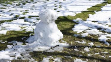 havazás hó tél olvadás sár időjárás getty