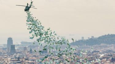helikopter pénz QE pénznyomtatás