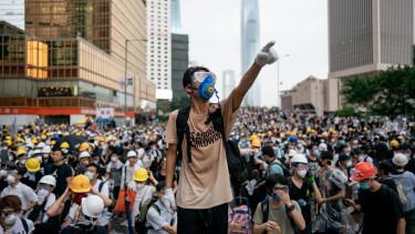 hongkong tüntetés kína