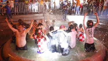 horvátország ünneplés