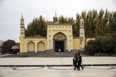 hszincsiang ujgurok rendőrség