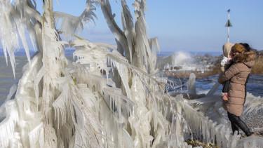 időjárás tél fagy előrejelzés sarki örvény