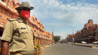 india rendőrség lezárás koronavírus