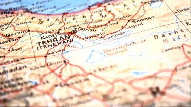 irán teherán atomfegyver geopolitika térkép