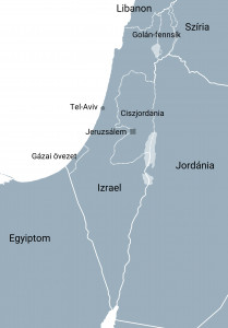 izrael terkep