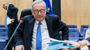 Jean-Claude Juncker, president of the European Commission, arrives for the weekly meeting of the European Union (EU) commissioners college in the Berlaymont building in Brussels, Belgium.