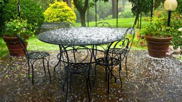 jégeső időjárás omsz eső kert