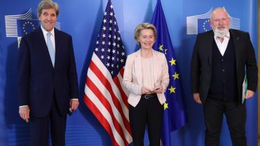 John Kerry Ursula von der Leyen Frans Timmermans 210309